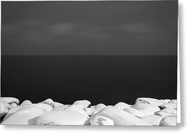 Shore Greeting Card by Michael Lerman