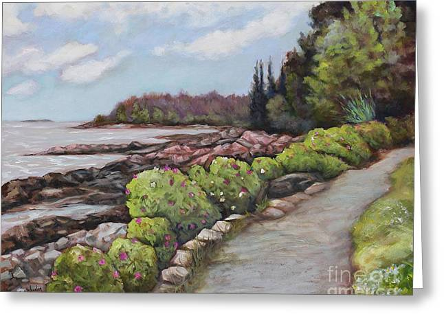 Shore Path Greeting Card by Eve  Wheeler