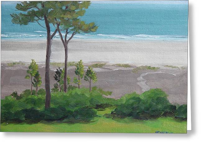 Shore Pines Greeting Card by Robert Rohrich