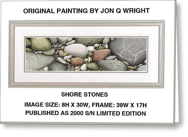 Shore Stones Greeting Card by Jon Q Wright