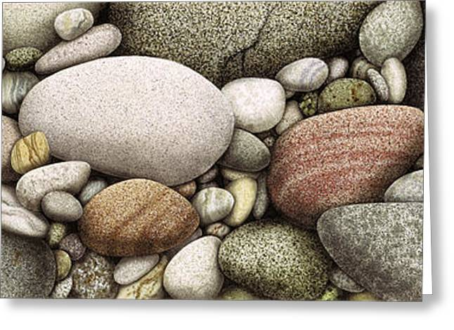 Shore Stones Greeting Card by JQ Licensing