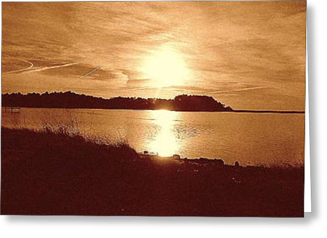 Shore Sunset Greeting Card by Karen Fowler