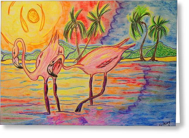 Shorebirds Greeting Card by W Gilroy