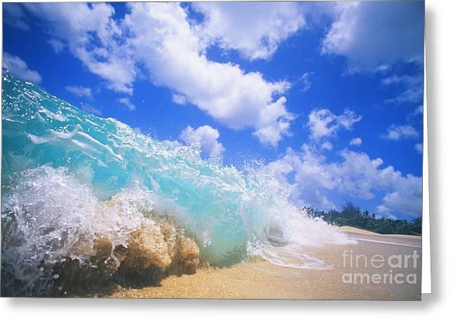 Shorebreak Close-up Greeting Card by Vince Cavataio - Printscapes