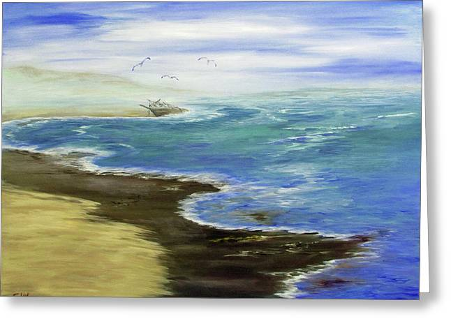 Shoreline Greeting Card by Catherine Link