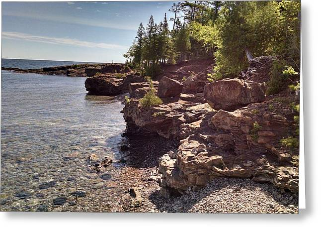 Shoreline In The Upper Michigan Greeting Card