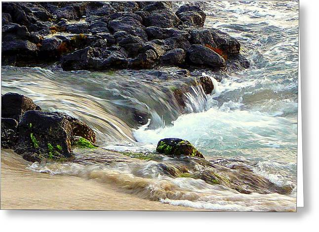 Greeting Card featuring the photograph Shoreline by Lori Seaman