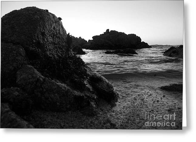 Shoreline Monolith Monochrome Greeting Card