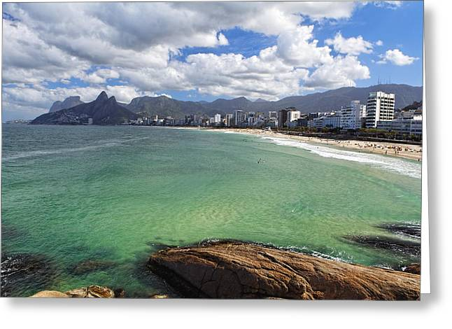 Shoreline Of Ipanema  Greeting Card