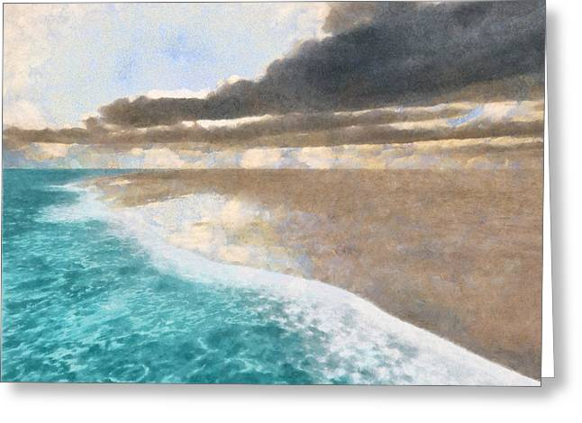 Shoreline Painted Greeting Card by Cynthia Decker