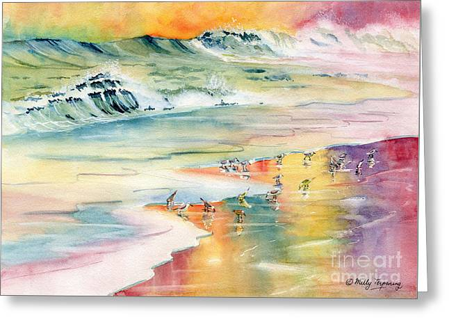 Shoreline Watercolor Greeting Card by Melly Terpening