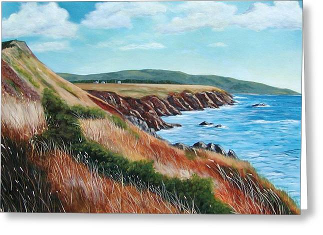Shores Of Cape Breton Greeting Card by Sharon Steinhaus