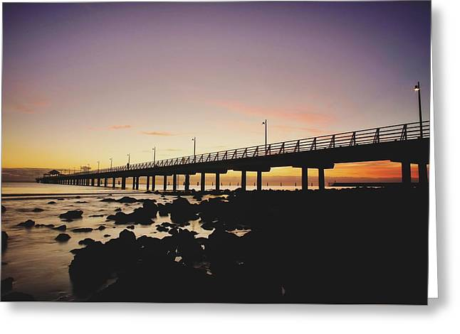 Shorncliffe Pier At Dawn Greeting Card