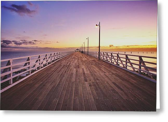 Shorncliffe Pier At First Light  Greeting Card