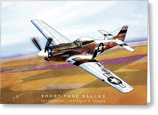 Short-fuse Sallee Greeting Card by Gary Bodnar