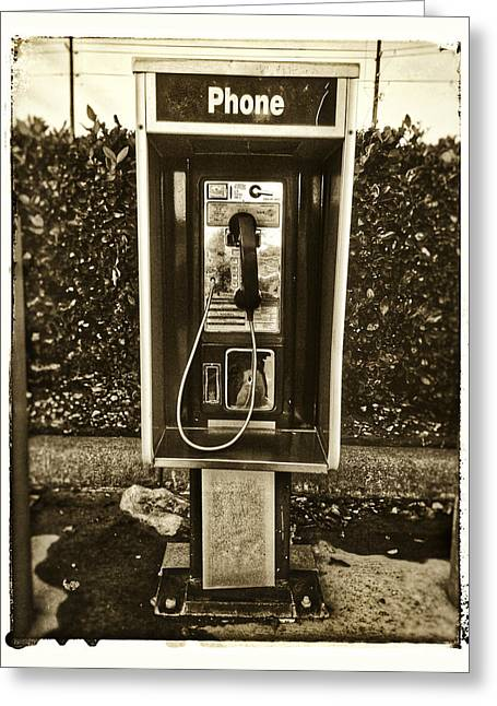 Short Stack Pay Phone Greeting Card