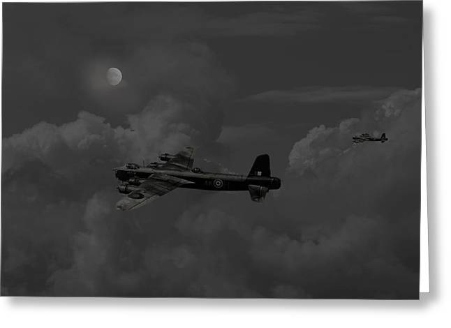 Short  Stirling - 'forgotten Bomber' Greeting Card by Pat Speirs