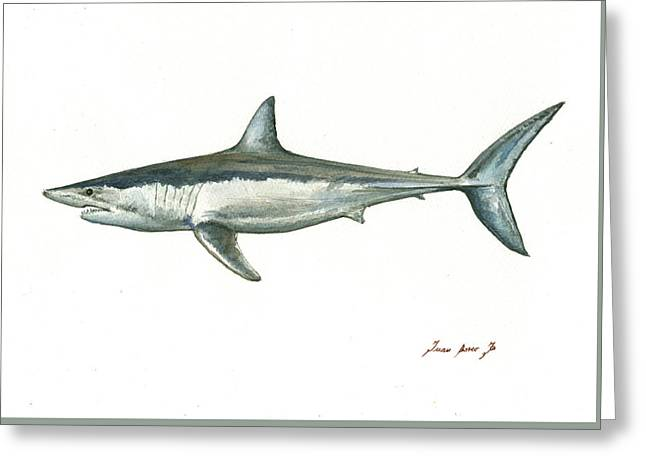 Shortfin Mako Shark Greeting Card