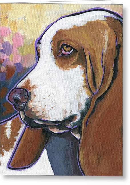 Greeting Card featuring the painting Shorty by Nadi Spencer