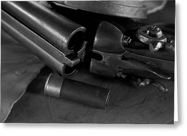 Shotgun Black And White Greeting Card