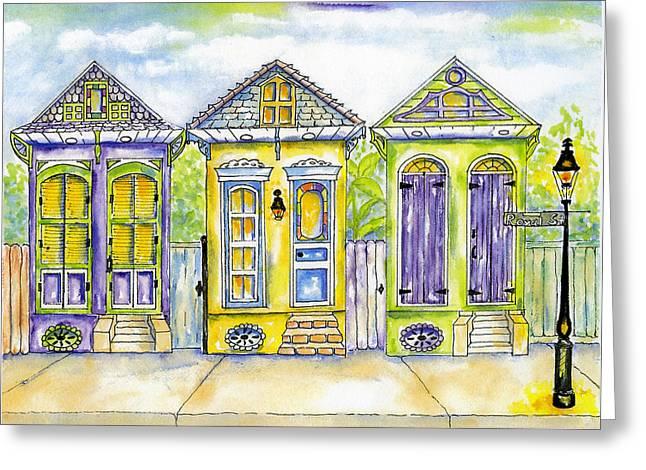 Shotgun Houses Greeting Card by Catherine Wilson