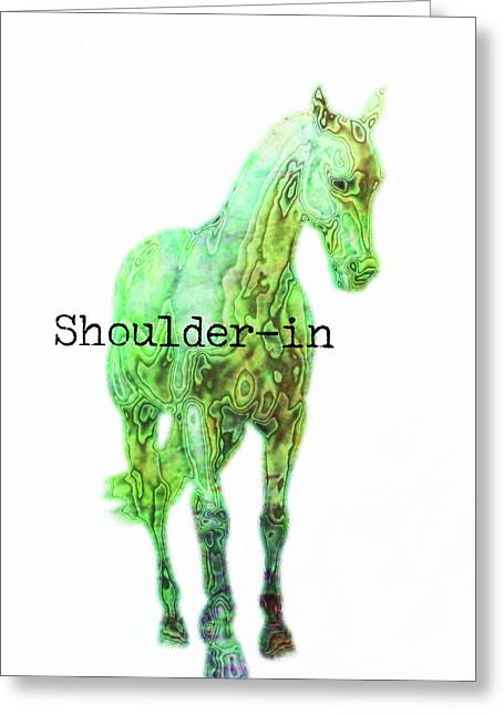 Shoulder-in Watercolor Quote Greeting Card by JAMART Photography