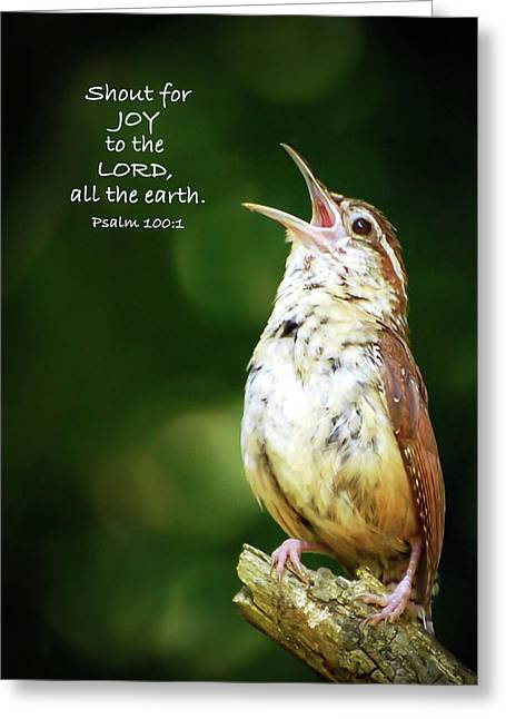 Greeting Card featuring the photograph Shout For Joy by Kerri Farley