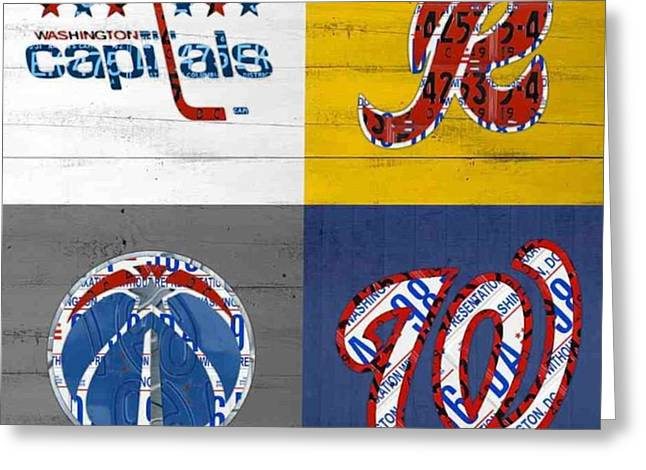 Shout To #washingtondc #capitals Greeting Card by Design Turnpike