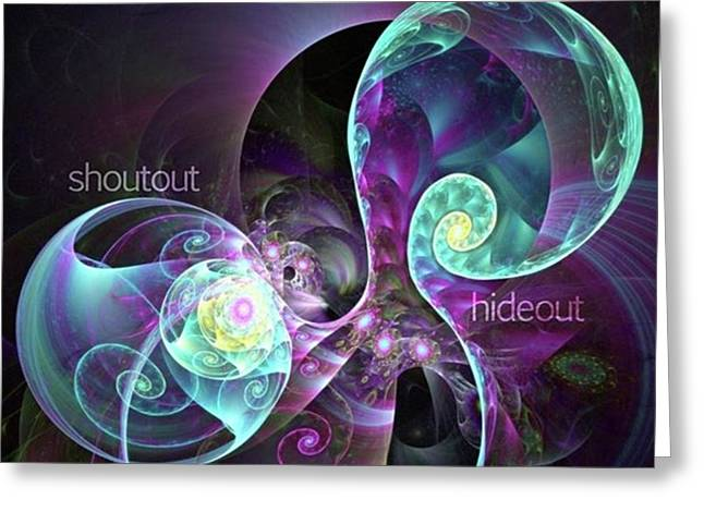 Shoutout Hideout - Digital Abstract Greeting Card by Michal Dunaj