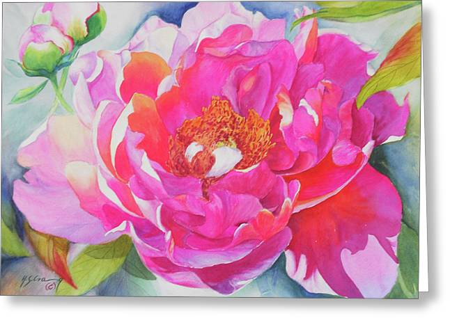Canna Greeting Cards - Show Off Greeting Card by H S Craig