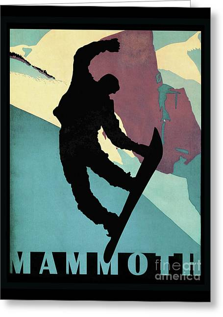 Showboarding Dude At Mammoth, Winter Sports Greeting Card by Tina Lavoie