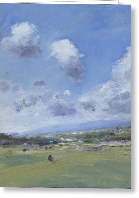 Shower Clouds Over The Yar Valley Greeting Card by Alan Daysh
