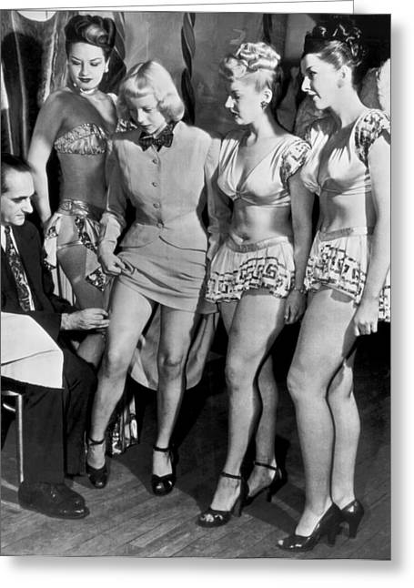 Showgirls Get Smallpox Shots Greeting Card by Underwood Archives