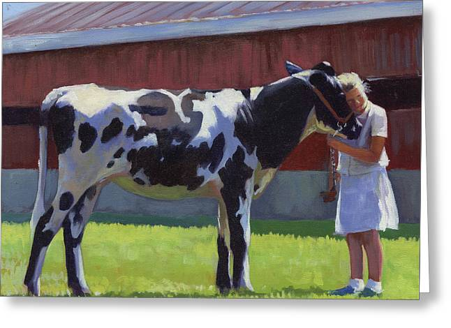 Showing The Heifer Greeting Card
