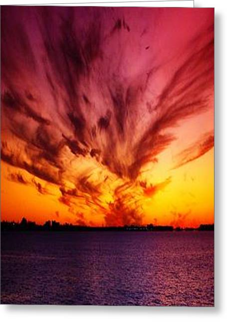 Amazing Sunset Greeting Cards - Showoff II Greeting Card by Florene Welebny