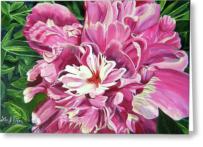 Showy Pink Peony Greeting Card