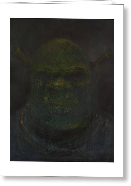 Shrek Greeting Card by Antonio Ortiz
