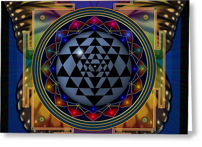 Shri Yantra 1 Greeting Card