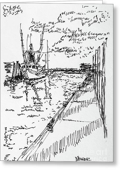 Shrimp Boat From The Harbor Greeting Card by Robert Yaeger