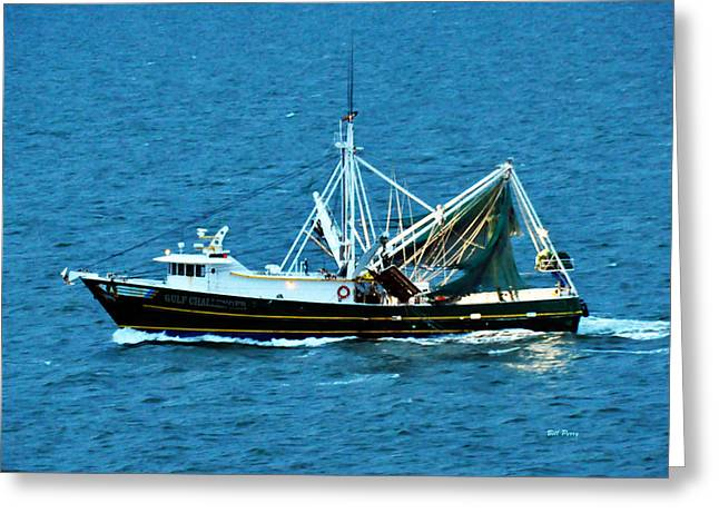 Shrimp Boat In The Gulf Greeting Card by Bill Perry