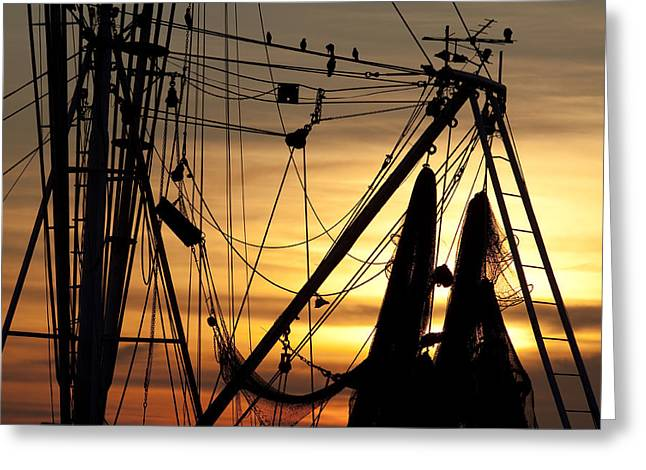 Shrimp Boat Rigging Greeting Card by Dustin K Ryan