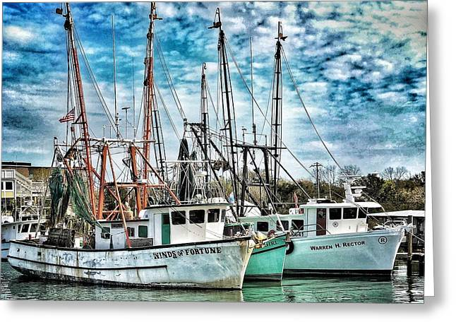 Greeting Card featuring the photograph Shrimp Boats by Donald Paczynski