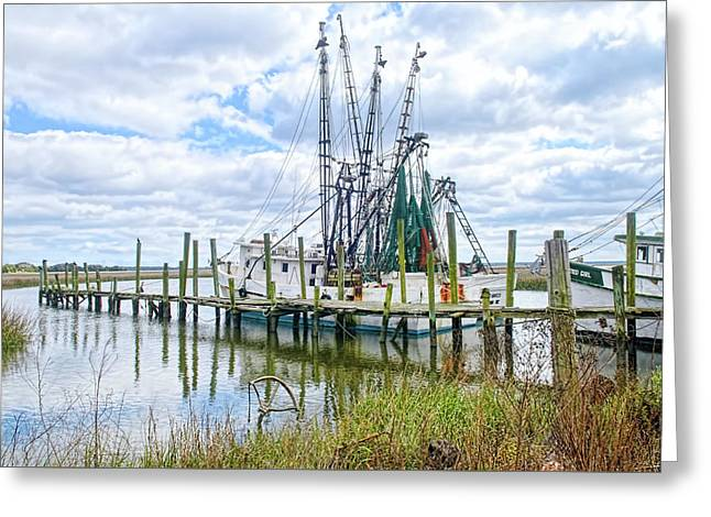 Shrimp Boats Of St. Helena Island Greeting Card
