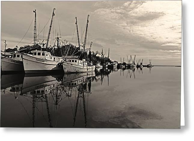 Shrimp Boats On The Altamaha Greeting Card