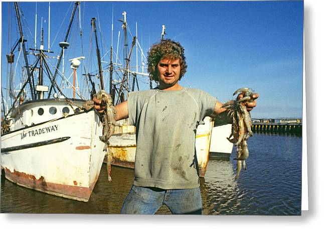 Shrimp Fisherman, Gulf Of Mexico Greeting Card