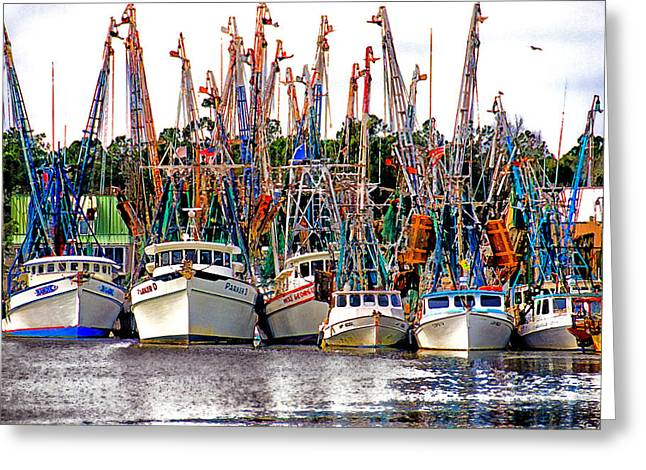 Shrimp Fleet Greeting Card by Joe Benton