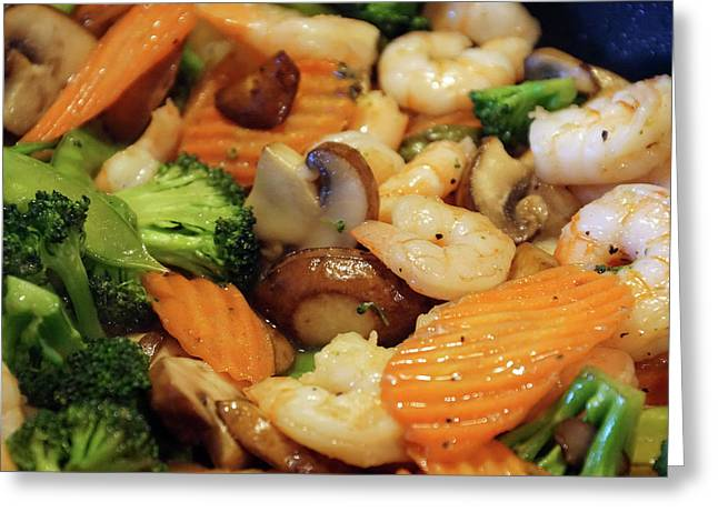 Greeting Card featuring the photograph Shrimp Stir Fry #2 by Ben Upham III