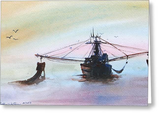 Shrimp Trawler Greeting Card