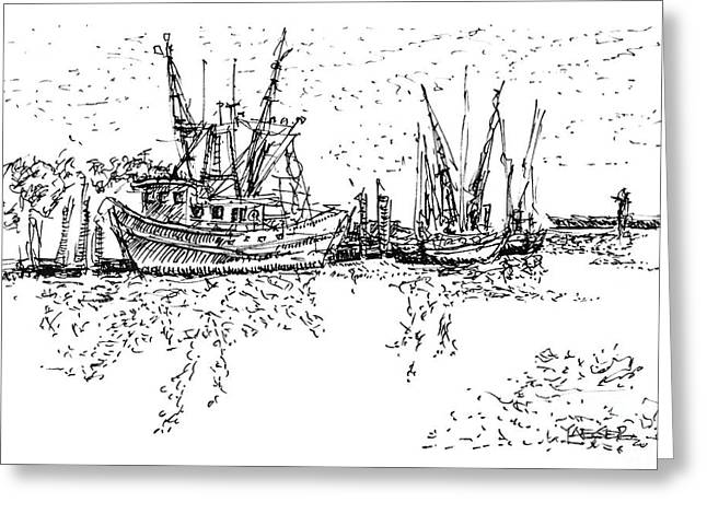 Shrimpers Delight Greeting Card by Robert Yaeger