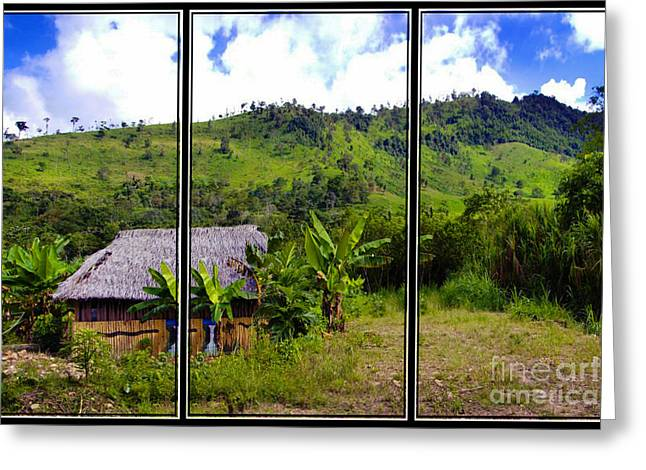 Greeting Card featuring the photograph Shuar Hut In The Amazon by Al Bourassa
